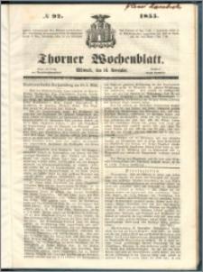 Thorner Wochenblatt 1855, No. 92