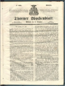 Thorner Wochenblatt 1855, No. 94
