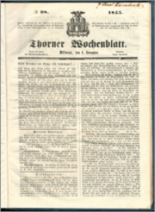 Thorner Wochenblatt 1855, No. 98 + Beilage