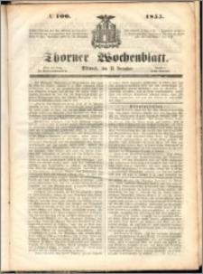 Thorner Wochenblatt 1855, No. 100 + Beilage