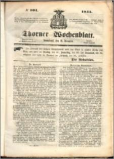 Thorner Wochenblatt 1855, No. 101 + Beilage