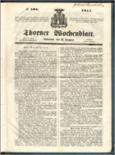 Thorner Wochenblatt 1855, No. 104