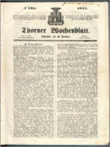 Thorner Wochenblatt 1855, No. 105