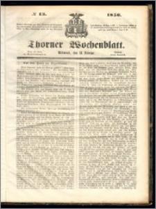 Thorner Wochenblatt 1856, No. 13