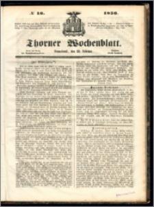 Thorner Wochenblatt 1856, No. 16