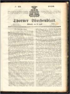 Thorner Wochenblatt 1856, No. 33