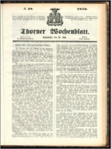 Thorner Wochenblatt 1856, No. 48