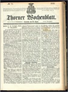 Thorner Wochenblatt 1856, No. 70