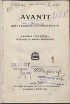 """""""Avanti"""" : listy z podróży naokoło świata"""