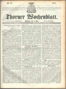 Thorner Wochenblatt 1857, No. 18