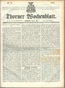 Thorner Wochenblatt 1857, No. 35 + dod. reklamowy