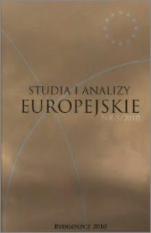 Studia i Analizy Europejskie: półrocznik naukowy. Nr 5 (2010)