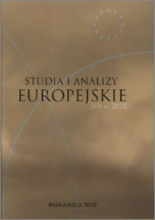 Studia i Analizy Europejskie: półrocznik naukowy. Nr 6 (2010)