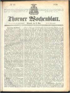 Thorner Wochenblatt 1858, No. 22 + Bibliographische Anzeigen No. 271