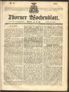 Thorner Wochenblatt 1858, No. 56