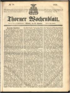 Thorner Wochenblatt 1858, No. 78 + dod. reklamowy