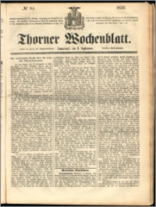 Thorner Wochenblatt 1859, No. 84