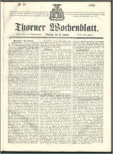 Thorner Wochenblatt 1860, No. 19