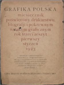 Grafika Polska 1923, R. 3 z. 1