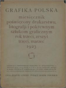 Grafika Polska 1923, R. 3 z. 3