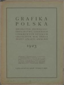 Grafika Polska 1923, R. 3 z. 4