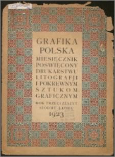 Grafika Polska 1923, R. 3 z. 7