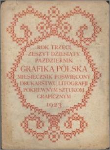 Grafika Polska 1923, R. 3 z. 10