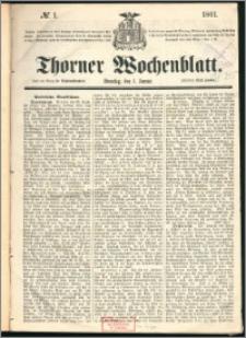 Thorner Wochenblatt 1861, No. 1