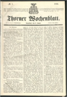 Thorner Wochenblatt 1861, No. 3