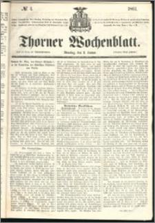 Thorner Wochenblatt 1861, No. 4