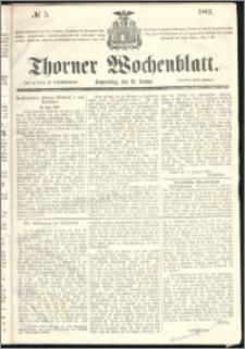 Thorner Wochenblatt 1861, No. 5