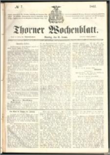 Thorner Wochenblatt 1861, No. 7