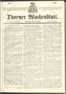Thorner Wochenblatt 1861, No. 8