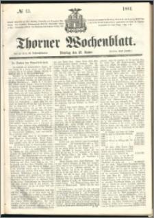 Thorner Wochenblatt 1861, No. 13