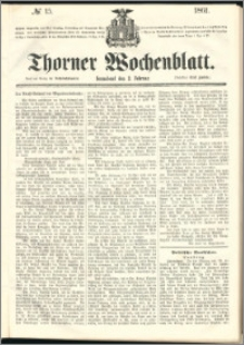 Thorner Wochenblatt 1861, No. 15