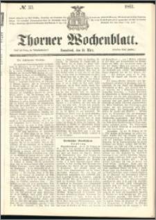 Thorner Wochenblatt 1861, No. 33