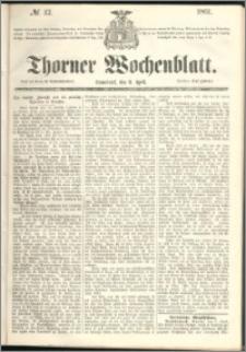 Thorner Wochenblatt 1861, No. 42