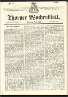 Thorner Wochenblatt 1861, No. 44