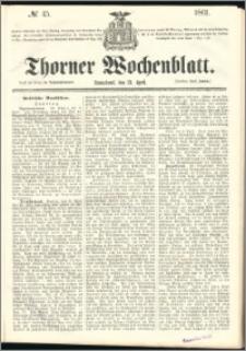 Thorner Wochenblatt 1861, No. 45