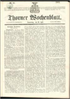 Thorner Wochenblatt 1861, No. 50