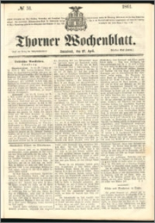 Thorner Wochenblatt 1861, No. 51