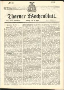 Thorner Wochenblatt 1861, No. 52