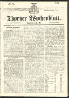 Thorner Wochenblatt 1861, No. 62 + Beilage