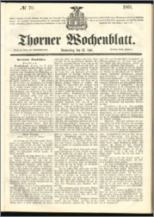 Thorner Wochenblatt 1861, No. 70