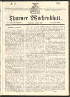 Thorner Wochenblatt 1861, No. 71