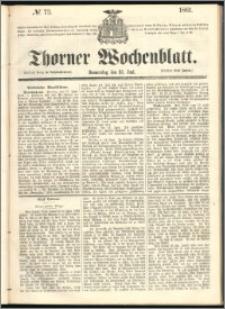 Thorner Wochenblatt 1861, No. 73