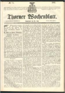 Thorner Wochenblatt 1861, No. 74
