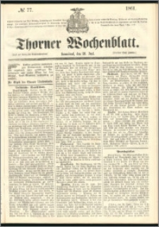 Thorner Wochenblatt 1861, No. 77