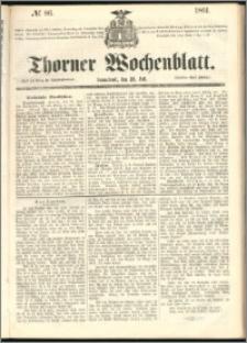 Thorner Wochenblatt 1861, No. 86 + Beilage