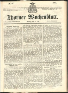 Thorner Wochenblatt 1861, No. 87
